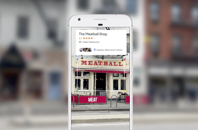 Google Lens can identify which restaurant you're looking at, which you know anyway. Screenshot by Yahoo Finance