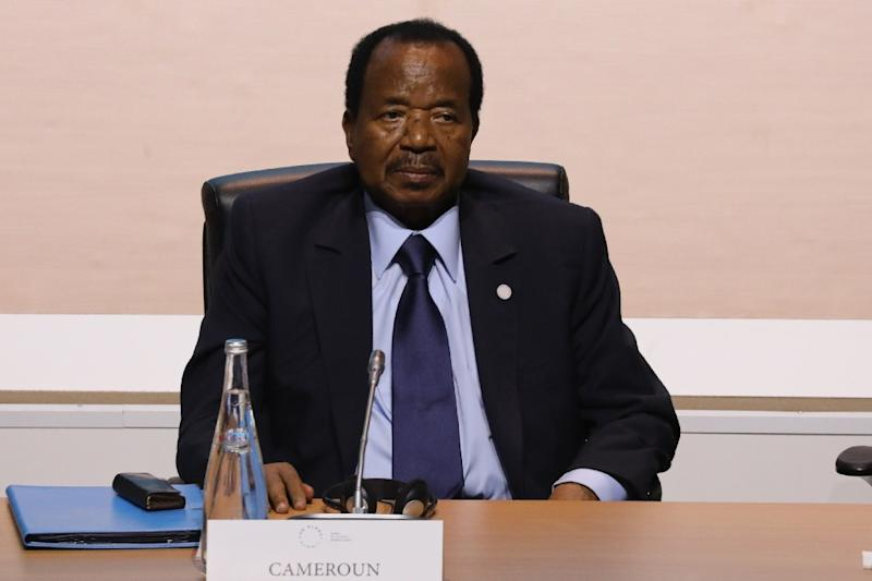 President Paul Biya, 85, has been head of state for 35 years. He has sternly rejected independence or a federal status for the two anglophone regions (AFP Photo/LUDOVIC MARIN)