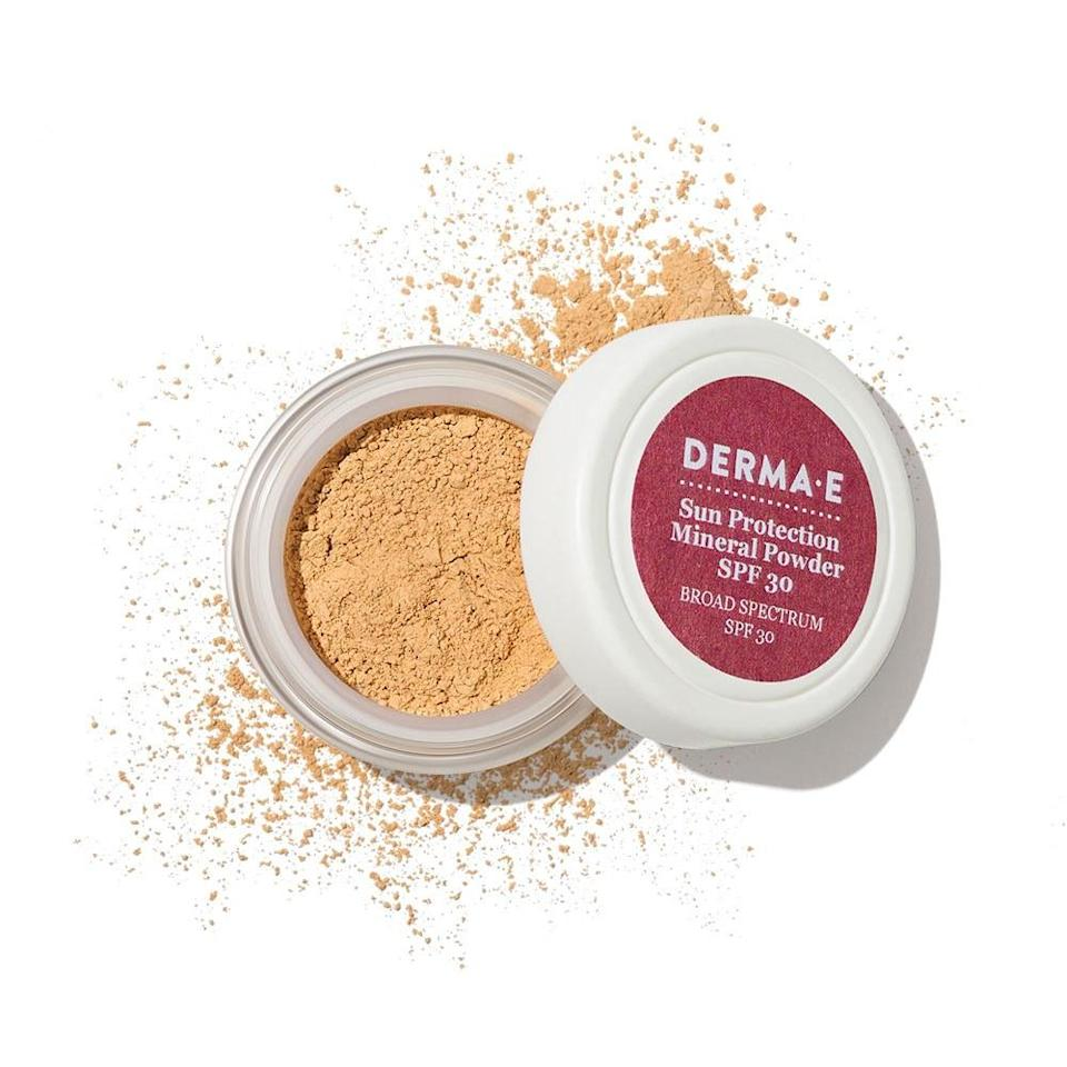 """<p>This finely milled powder is awesome for setting makeup and preventing shine on scorching days when you feel like you're going to melt. And somehow it doesn't make your skin look dull or matte in the process. Plus, it's got all-natural SPF 30 (there's titanium dioxide and zinc oxide in the formula), so it adds extra sun protection on top of your usual sunscreen. (Most dermatologists don't recommend using powder as your only sunscreen, since you get more even coverage from a cream.)</p> <p><strong>Value:</strong> <a rel=""""nofollow noopener"""" href=""""https://www.allure.com/review/derma-e-sun-protection-mineral-powder-spf-30?mbid=synd_yahoo_rss"""" target=""""_blank"""" data-ylk=""""slk:Derma-E Essentials Mineral Powder"""" class=""""link rapid-noclick-resp"""">Derma-E Essentials Mineral Powder</a>, $22</p> <p><strong>—<a rel=""""nofollow noopener"""" href=""""http://beautybox.allure.com/?source=EDT_ALB_JULY_2018_GALLERY_UNBOXING"""" target=""""_blank"""" data-ylk=""""slk:Subscribe Now"""" class=""""link rapid-noclick-resp"""">Subscribe Now</a>—</strong></p>"""