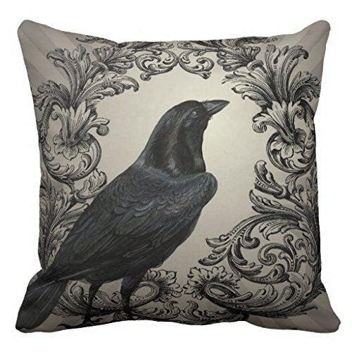 """<p>This <a href=""""https://www.popsugar.com/buy/HGOD-Designs-Vintage-Halloween-Crow-Pillow-Case-353734?p_name=HGOD%20Designs%20Vintage%20Halloween%20Crow%20Pillow%20Case&retailer=amazon.com&pid=353734&price=8&evar1=savvy%3Auk&evar9=43787777&evar98=https%3A%2F%2Fwww.popsugar.com%2Fsmart-living%2Fphoto-gallery%2F43787777%2Fimage%2F43787975%2FSJbaby-Modern-Vintage-Halloween-Crow-Pillow-Case&list1=amazon%2Challoween%2Challoween%20decor%2Caffordable%20decor&prop13=api&pdata=1"""" rel=""""nofollow"""" data-shoppable-link=""""1"""" target=""""_blank"""" class=""""ga-track"""" data-ga-category=""""Related"""" data-ga-label=""""https://www.amazon.com/HGOD-DESIGNS-Pillowcase-Decorative-Livingroom/dp/B078WRPNGP/ref=sr_1_3?ie=UTF8&amp;qid=1532989229&amp;sr=8-3&amp;keywords=crow+pillow+case"""" data-ga-action=""""In-Line Links"""">HGOD Designs Vintage Halloween Crow Pillow Case</a> ($8) will easily go with the decor you already have in your home. </p>"""