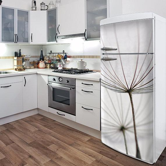 Turn your boring fridge into an eye-catching standout.