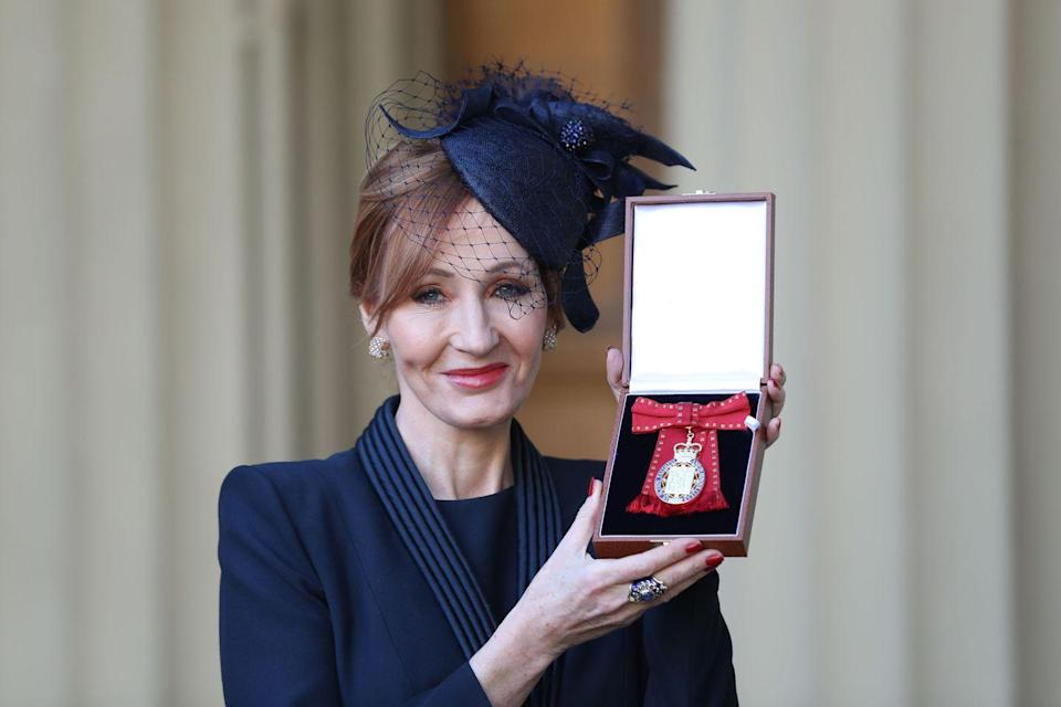 <p>Prince William appointed Rowling a Companion of Honour for literature and philanthropy in 2017.</p>