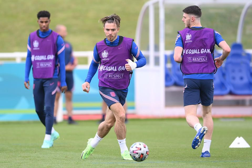 The rest of the England squad trained at St George's Park on Saturday (Getty Images)