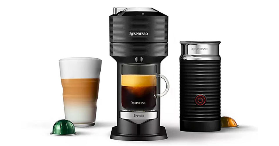 Nespresso by Breville VertuoLine Coffee and Espresso Maker Bundle with Aeroccino Frother (Photo: Bed Bath & Beyond)