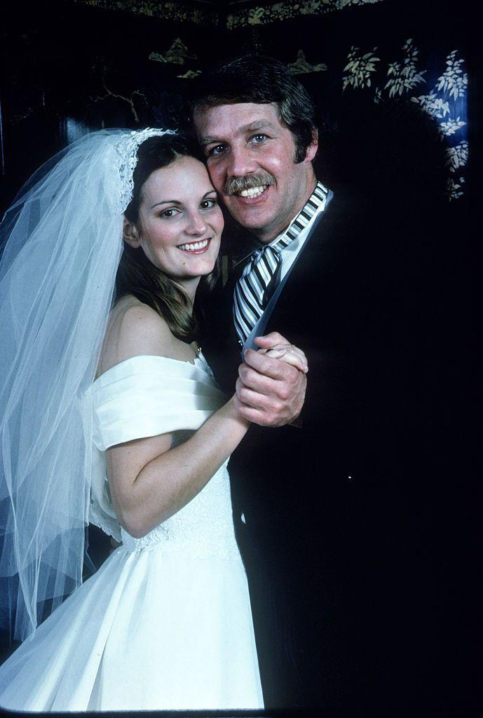 """<p>Patty, the daughter of Catherine and Randolph, married Bernard Shaw in 1979. The two tied the knot in an Episcopal ceremony at a naval base in San Francisco Bay. Patty wore an off-the-shoulder white gown and wedding veil. According to Patty, her parents gave the couple """"a <a href=""""https://www.nytimes.com/2013/12/20/us/bernard-l-shaw-bodyguard-and-husband-of-patty-hearst-dies-at-68.html"""" rel=""""nofollow noopener"""" target=""""_blank"""" data-ylk=""""slk:Sears vacuum cleaner"""" class=""""link rapid-noclick-resp"""">Sears vacuum cleaner</a> as a wedding present"""" because """"they thought [the marriage] wouldn't last."""" But, the two remained married until 2013—when Bernard passed away from cancer—and had two daughters: Gillian and Lydia. <br></p>"""