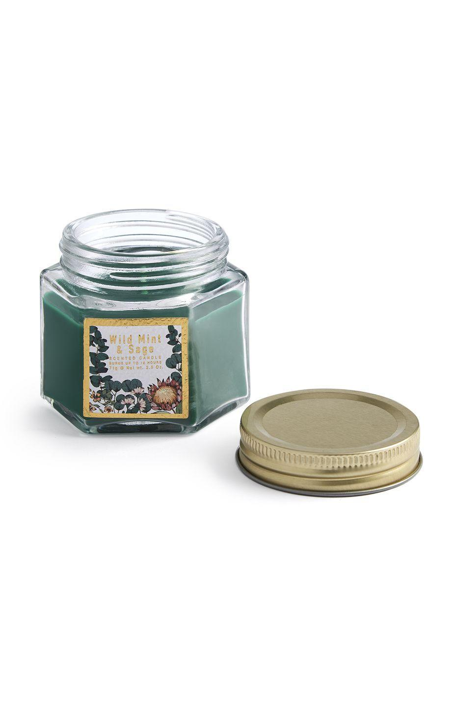 <p>Wild mint and sage candle, £1.00</p>