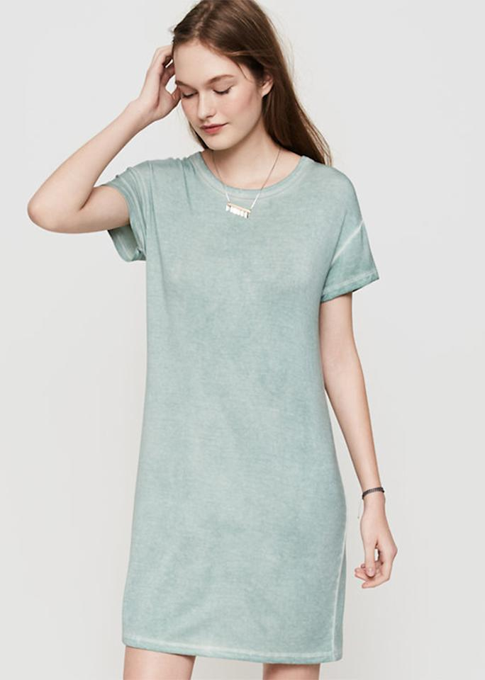 "Lou & Grey Signature Soft Tee Dress, $59.50; at <a rel=""nofollow"" href=""https://www.loft.com/lou-&-grey-signaturesoft-tee-dress/428675?skuId=22571533&defaultColor=3970&colorExplode=false&catid=cat1880002"">Lou & Grey</a>"