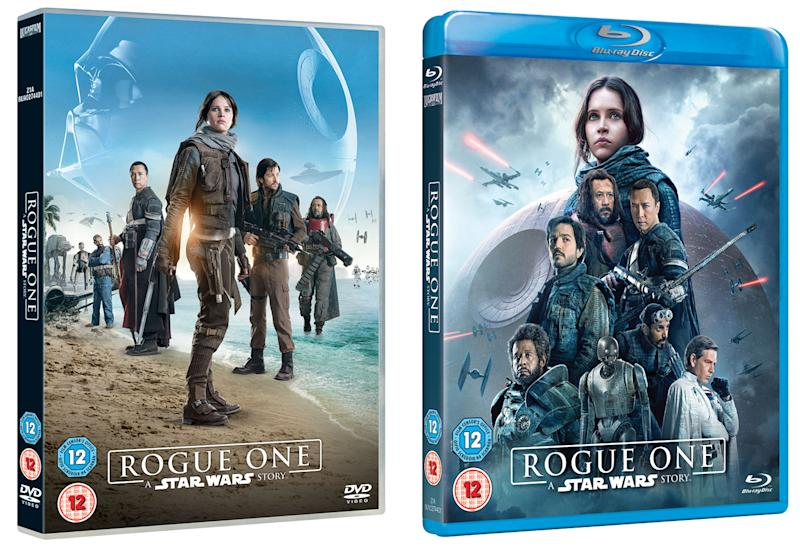 'Rogue One: A Star Wars Story' DVD and Blu-ray box art (Disney)