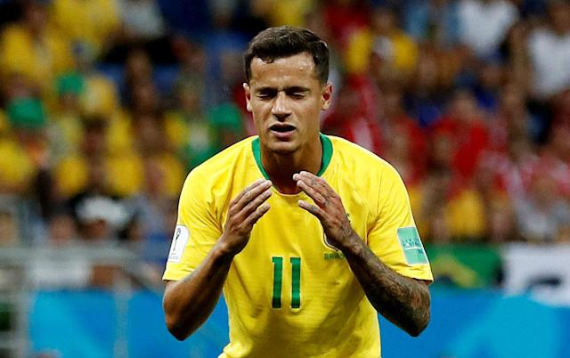 Soccer Football - World Cup - Group E - Brazil vs Switzerland - Rostov Arena, Rostov-on-Don, Russia - June 17, 2018 Brazil's Philippe Coutinho reacts REUTERS/Damir Sagolj TPX IMAGES OF THE DAY