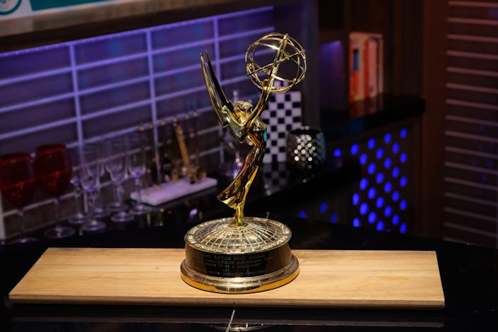 WATCH WHAT HAPPENS LIVE WITH ANDY COHEN -- Episode 16146 -- Pictured: Emmy Award -- (Photo by: Charles Sykes/Bravo/NBCU Photo Bank/NBCUniversal via Getty Images)