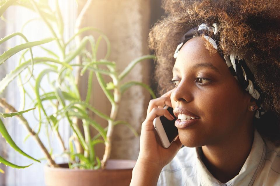 woman on phone, parenting tips