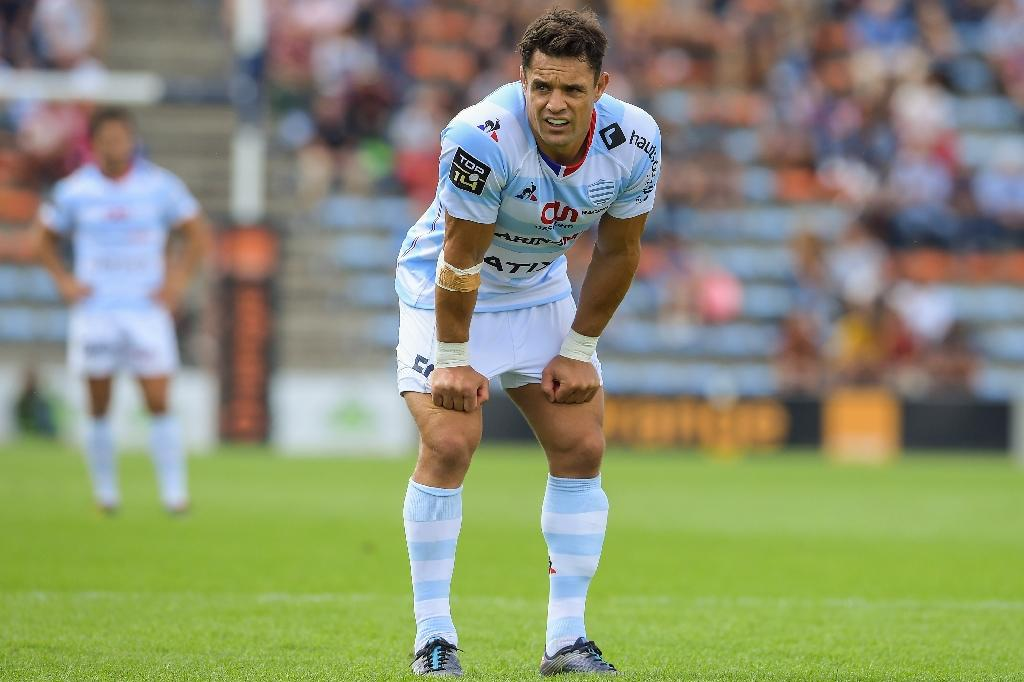Racing's New Zealand flyhalf Dan Carter looks on during the French Top 14 rugby union match between Agen and Racing 92 on September 2, 2017 at the Aramandie stadium in Agen, southwestern France. (AFP Photo/NICOLAS TUCAT)
