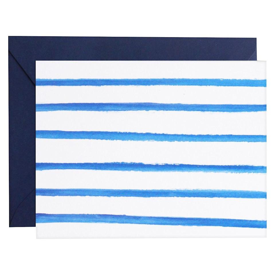meant to be sent Watercolor Stripe Cards