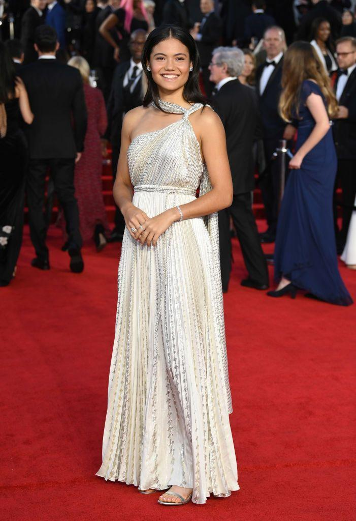 <p>The tennis star wore a grecian-inspired Christian Dior dress. </p>