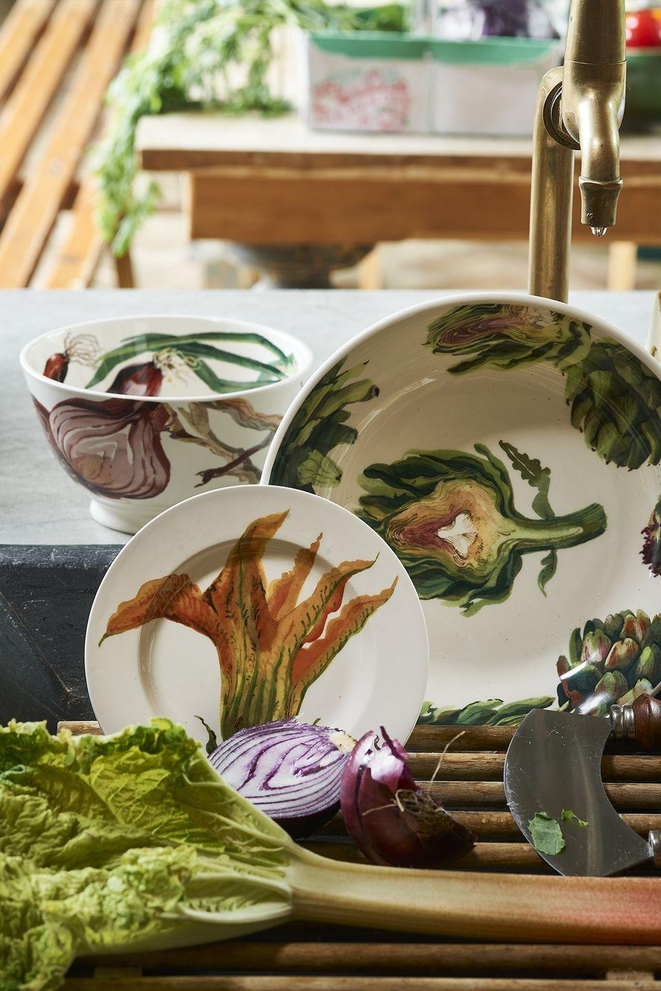 """<p>Eating one of your five a day just got easier thanks to the new range of veggie-inspired plates. Perfect to buy a gardener for their birthday.</p><p><a class=""""link rapid-noclick-resp"""" href=""""https://go.redirectingat.com?id=127X1599956&url=https%3A%2F%2Fwww.emmabridgewater.co.uk%2Fcollections%2Fvegetable-garden&sref=https%3A%2F%2Fwww.housebeautiful.com%2Fuk%2Flifestyle%2Fshopping%2Fg37527696%2Femma-bridgewater-autumn-range%2F"""" rel=""""nofollow noopener"""" target=""""_blank"""" data-ylk=""""slk:SHOP THE RANGE"""">SHOP THE RANGE</a></p><p><strong>Follow House Beautiful on <a href=""""https://www.instagram.com/housebeautifuluk/"""" rel=""""nofollow noopener"""" target=""""_blank"""" data-ylk=""""slk:Instagram"""" class=""""link rapid-noclick-resp"""">Instagram</a>.</strong></p>"""