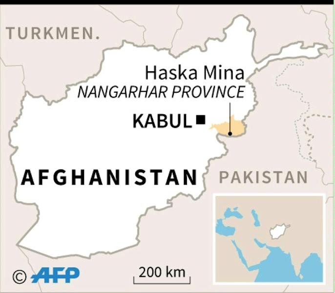 Map of Afghanistan locating attack on a mosque in Haska Mena district, Nangarhar province. (AFP Photo/afp)