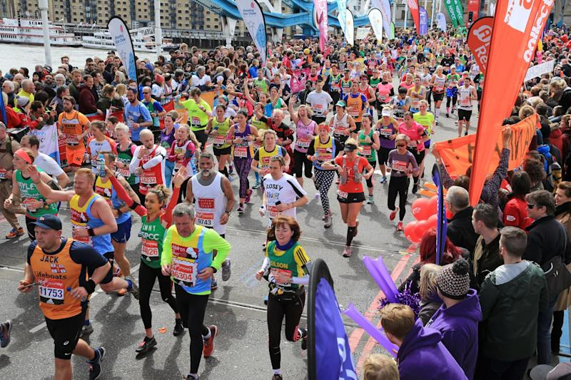 Sprint finish: cheer on the runners: Oliver Dixon/Rex Features
