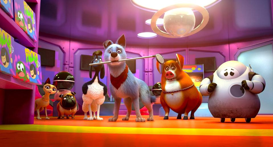 """<p><strong>What it's about:</strong> """"A street-smart dog and a pampered cat join forces to lead a pack of unlikely heroes when their city is seized by its evil mayor - and his robot army.""""</p> <p><a href=""""https://www.netflix.com/title/80244429"""" class=""""link rapid-noclick-resp"""" rel=""""nofollow noopener"""" target=""""_blank"""" data-ylk=""""slk:Stream Pets United on Netflix!""""> Stream <strong>Pets United</strong> on Netflix!</a></p>"""
