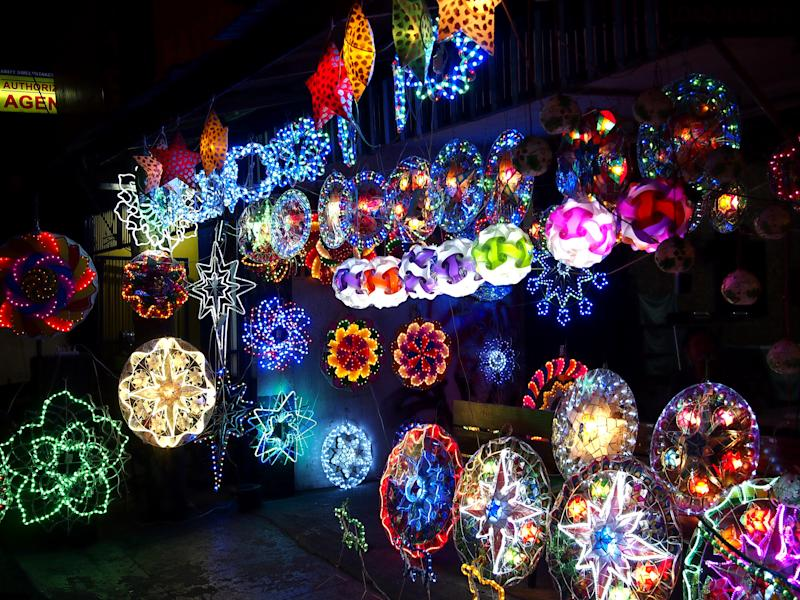 Colorful Christmas lanterns on display at a store in Philippines. (Photo: Getty Images)