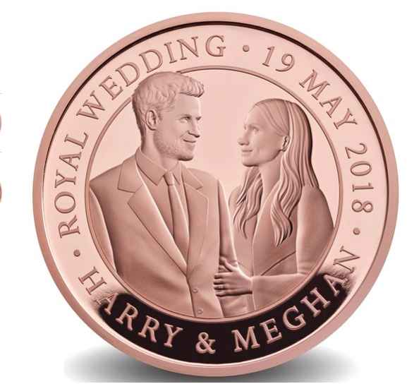 Britain's Royal Mint has released an official, 22-karat gold royal wedding coin. (Photo: Courtesy the Royal Mint)