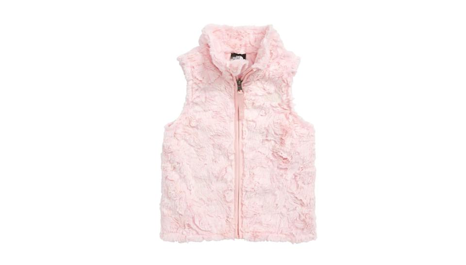 This cozy vest will keep your little one warm.