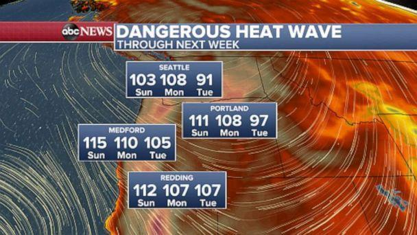 PHOTO: A historic heat wave is expected to bring scorching temperatures to the Pacific Northwest. (ABC News)