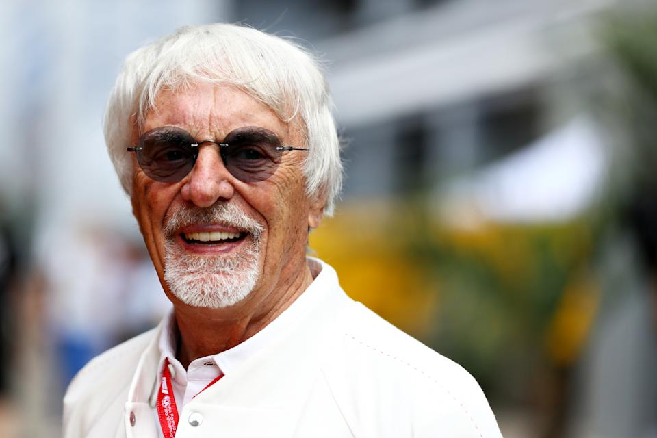 SOCHI, RUSSIA - SEPTEMBER 28: Bernie Ecclestone, Chairman Emeritus of the Formula One Group, looks on in the Paddock before final practice for the F1 Grand Prix of Russia at Sochi Autodrom on September 28, 2019 in Sochi, Russia. (Photo by Mark Thompson/Getty Images)