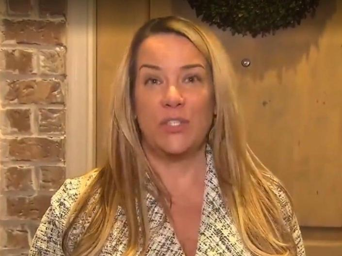 <p>Jenna Ryan made headlines last month for her extravagant transportation to the riot on 6 January, 2021</p> (CBS DFW)