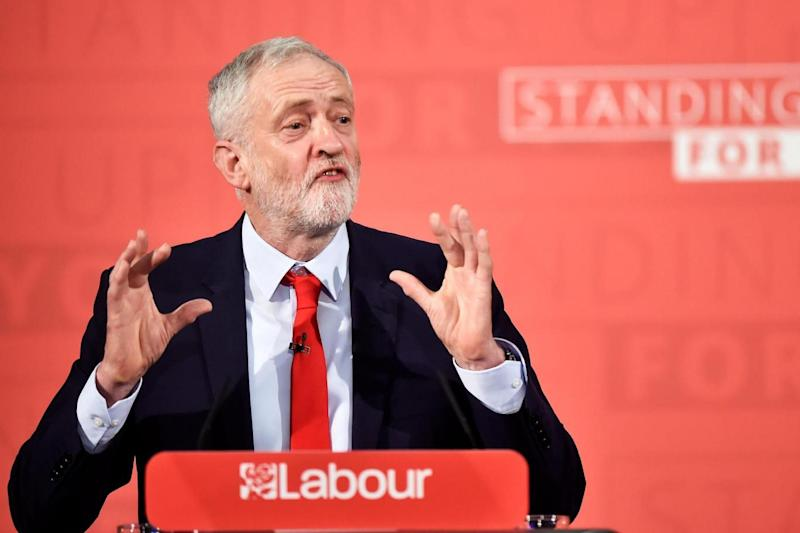 Set piece speech: Jeremy Corbyn (REUTERS)