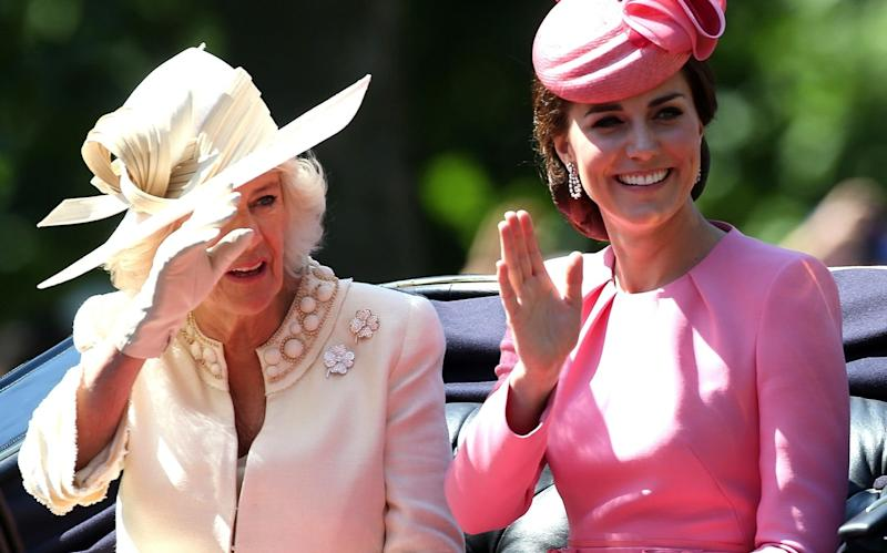 Camilla, Duchess of Cornwall and Catherine, Duchess of Cambridge - Credit: GC Images