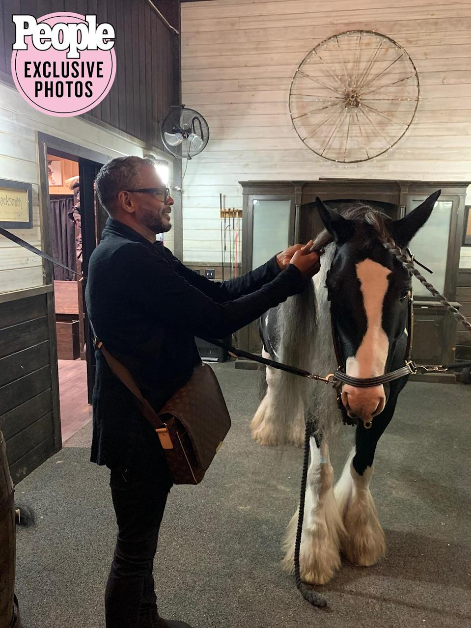 <p>I wasn't the only one who got glammed up that day. My hair stylist, Johnny Lavoy, took it upon himself to ensure everyone was properly hair styled by braiding my horse's hair!</p>