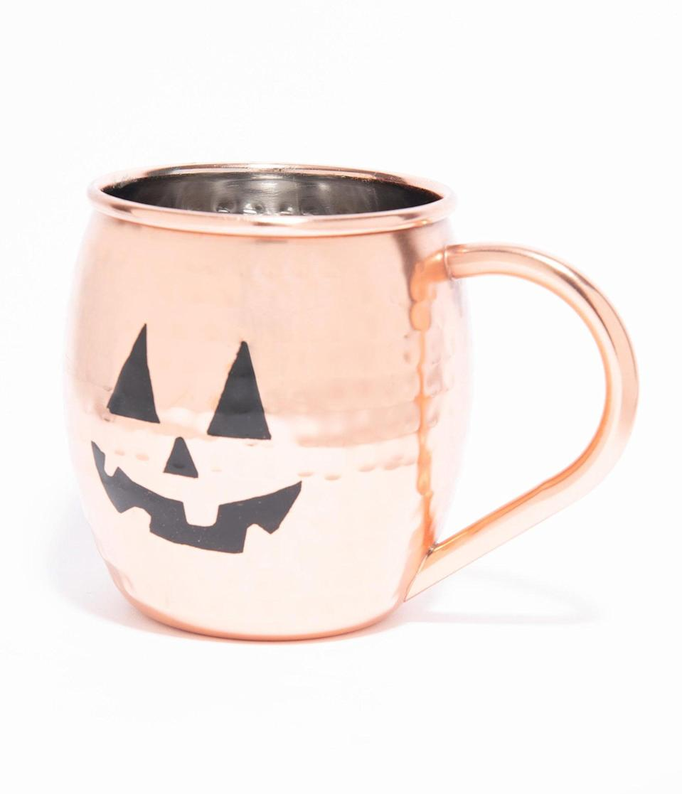 <p>Sip in scary fashion with the <span>Halloween Moscow Mule Mug</span> ($24).</p>