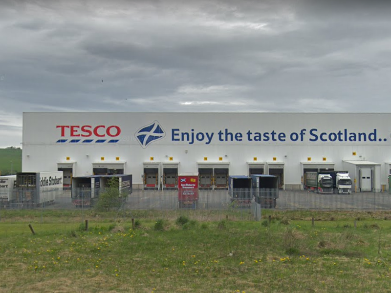 The Tesco plant in Livingston, where several workers have caught coronavirus: Google Maps