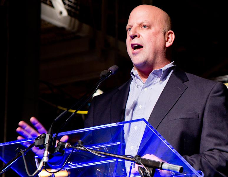 In this Nov. 21, 2011 photo, Rep. Scott DesJarlais, R-Tenn., speaks at an event at the General Motors plant in Spring Hill, Tenn. A phone transcript emerged on Wednesday, Oct. 10, 2012, appearing to recount how the freshman congressman seeking re-election on a pro-life platform urged his pregnant mistress to get an abortion more than a decade ago. (AP Photo/Erik Schelzig)