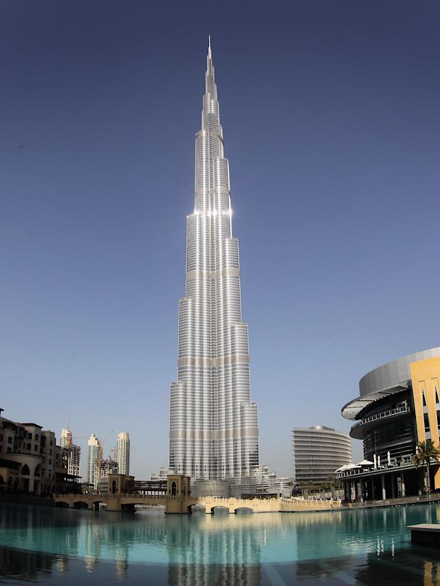 DUBAI, UNITED ARAB EMIRATES - FEBRUARY 23: A general view of the Burj Khalifa on February 23, 2012 in Dubai, United Arab Emirates. At 829.84 m (2723 ft) tall the Burj Khalifa is currently the tallest building in the world. (Photo by Chris Jackson/Getty Images)