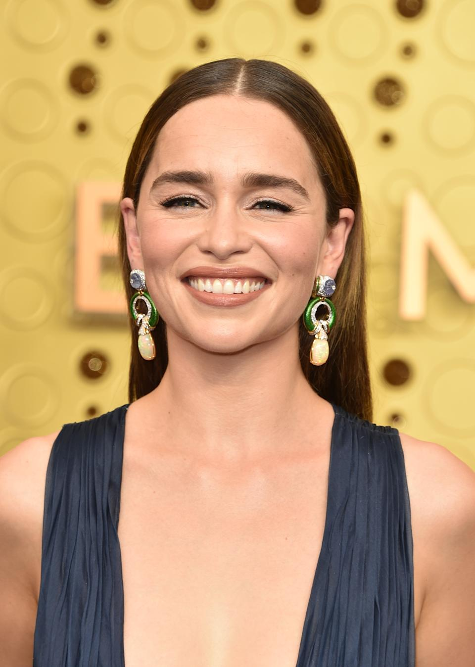 LOS ANGELES, CALIFORNIA - SEPTEMBER 22:  Emilia Clarke attends the 71st Emmy Awards at Microsoft Theater on September 22, 2019 in Los Angeles, California. (Photo by John Shearer/Getty Images)