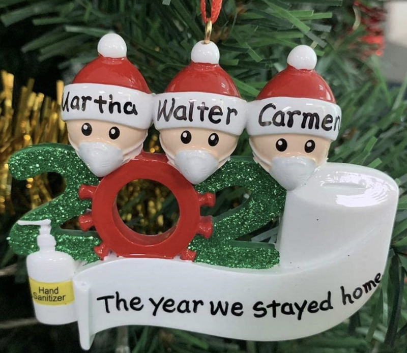 Families can get custom COVID-19-inspired ornaments like this one from Etsy. (Photo: Etsy/MallOClock)