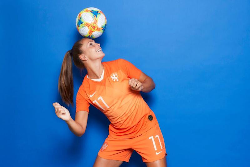 Lieke Martens of the Netherlands poses for a portrait during the official FIFA Women's World Cup 2019 portrait session at Hotel Novotel Le Havre Centre Gare on June 06, 2019 in Le Havre, France. Source: Getty