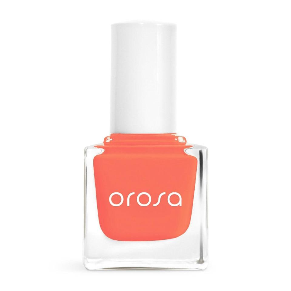 """<p>No summer nail-color list is complete without a bright shade of orange, and this year, papaya is the way to go. Less pink than coral but not as yellow as tangerine, papaya is such a welcome summer sight that it almost reads like a neutral during the season. </p> <p>""""A bright orange looks surprisingly good on everyone — and even better as a fun pedi shade,"""" Kandalec says. And Orosa's aptly named Pure Cover Nail Paint shade Papaya lets you achieve it with a quick-dry formula and an amateur-friendly brush.</p>"""