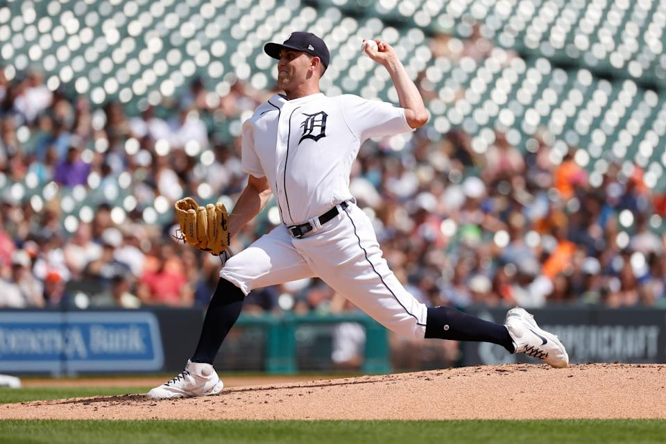 Detroit Tigers' Matthew Boyd pitches in the second inning against the Toronto Blue Jays at Comerica Park, August 29, 2021.