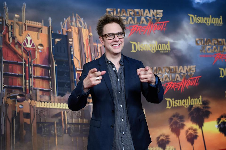 <p><em>Guardians</em> master mind James Gunn held court at the premiere. Gunn, who helped conceive and design Mission: Breakout!, told Yahoo Movies at the ride's premiere that he had gone on it six times already. (Photo: Disneyland Resort) </p>