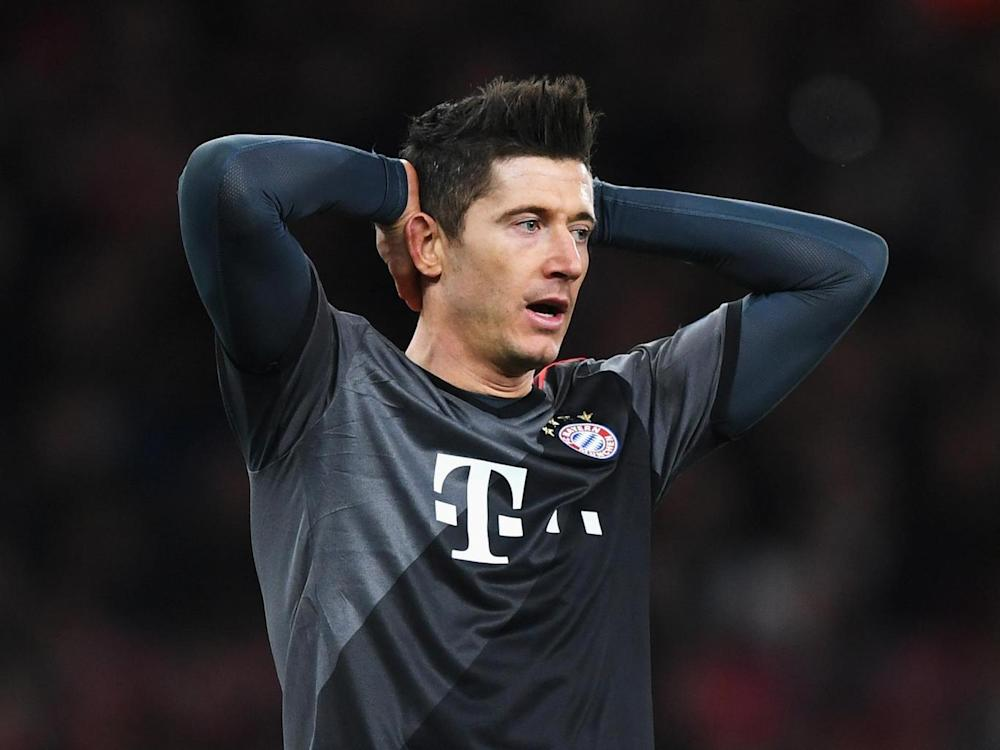 Lewandowski will miss the first leg ()