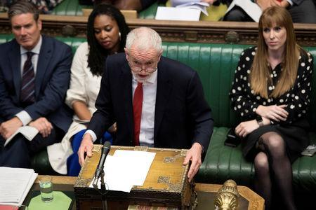 Britain's Labour Party leader Jeremy Corbyn speaks at the House of Commons in London, Britain May 22, 2019. ©UK Parliament/Jessica Taylor/Handout via REUTERS
