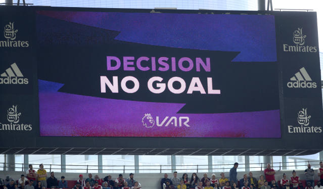 Introduction of VAR into the Premier League has been to mixed reception this season. (Yui Mok/PA via AP)