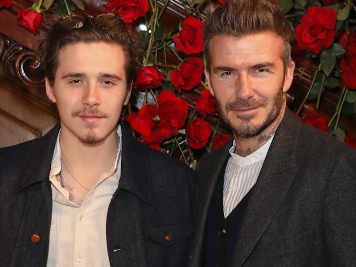 Brooklyn and David Beckham in 2019.