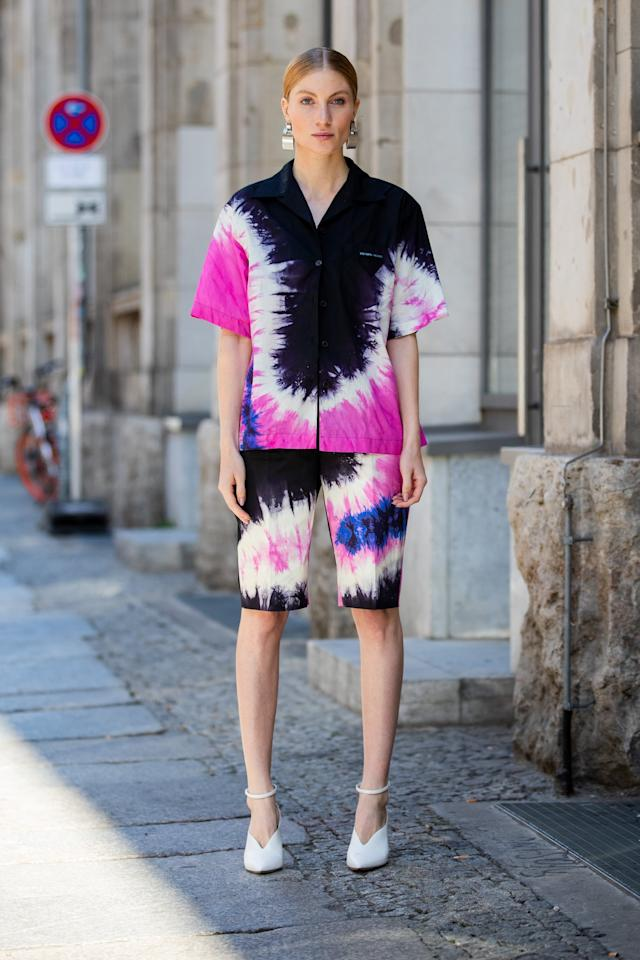 <p>Go bold in head-to-toe prints. We're particularly loving the elevated tie-dye look this year!</p>