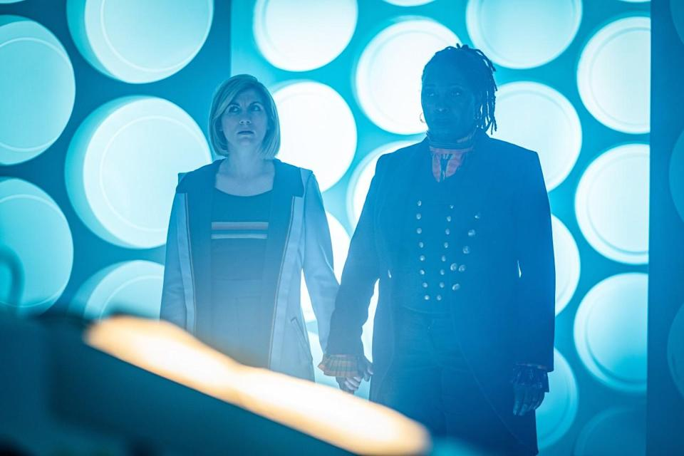 Ruth Doctor and Thirteen in TARDIS