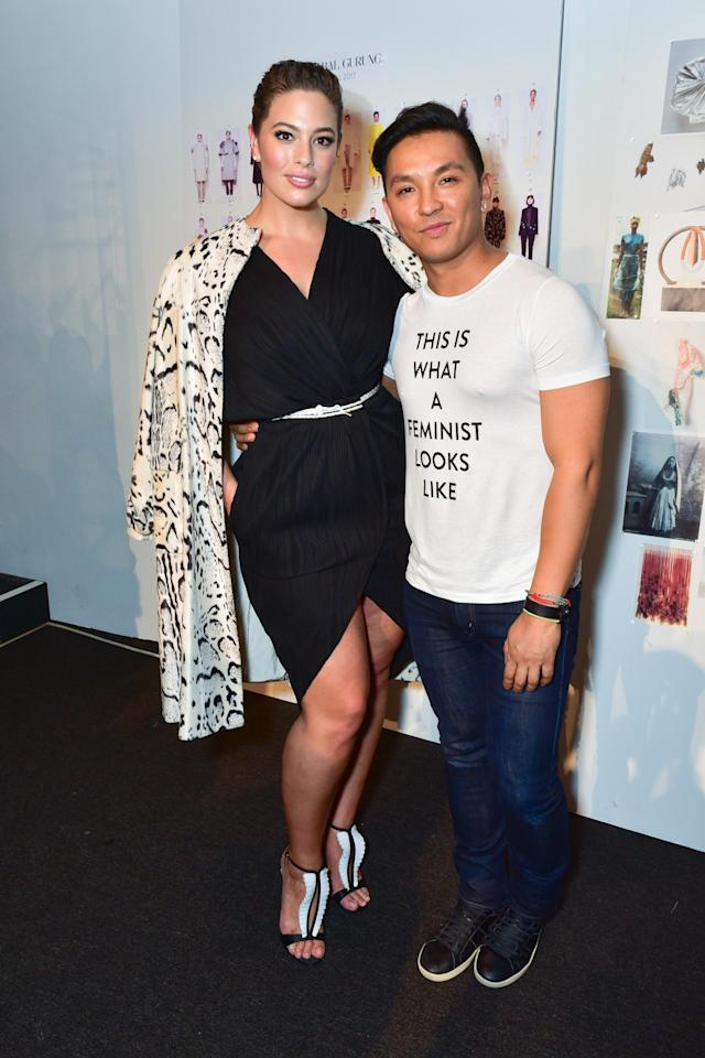 Ashley Graham and Prabal Gurung during his Fall/Winter 2017 NYFW show in February. (Photo: Getty Images)