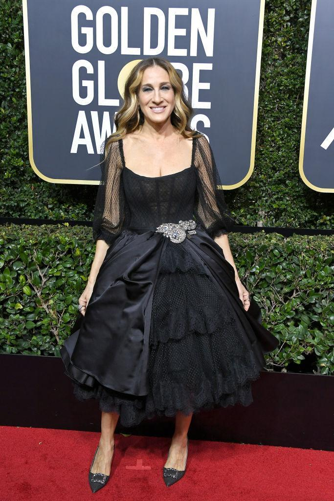 <p>The <i>Divorce</i> actress attends the 75th Annual Golden Globe Awards at the Beverly Hilton Hotel in Beverly Hills, Calif., on Jan. 7, 2018. (Photo: Steve Granitz/WireImage) </p>