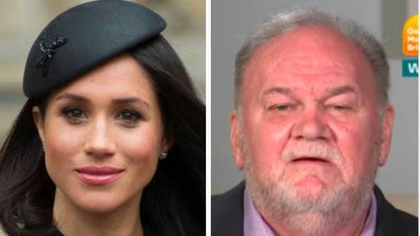 Meghan Markle's father can't stop talking to the press about his famous